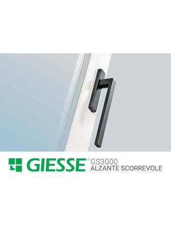 Giesse by antonio carella issuu for Maniglia finestra giesse h523