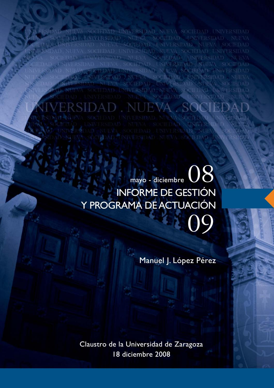 Informe De Gestión 2008 Y Programa De Actuación 2009 By