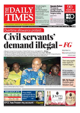 Dtn 21 6 16 By Daily Times Of Nigeria Issuu