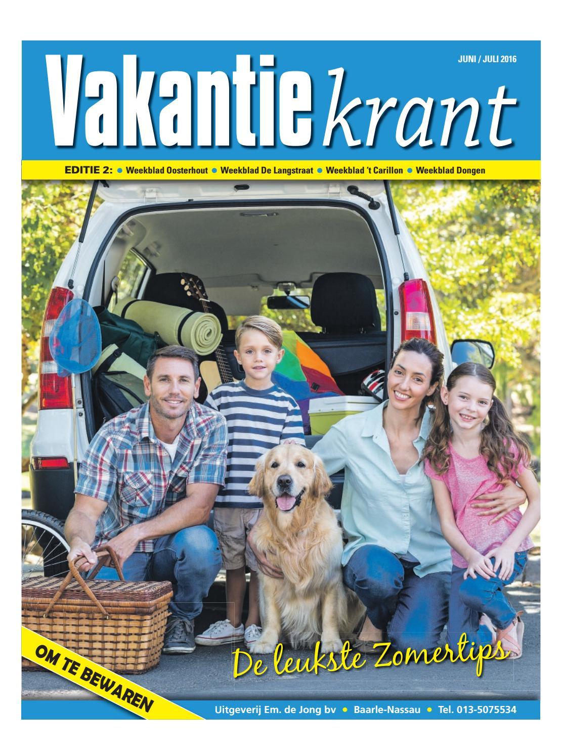 Vakantiekrant ed 2 22 06 2016 by uitgeverij em de jong for Nassau indus deur bv oosterhout
