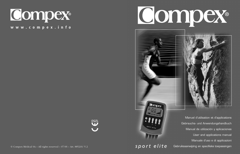 la moitié officiel super pas cher Www electrostimulateur ch fichiers manuels compex sport ...