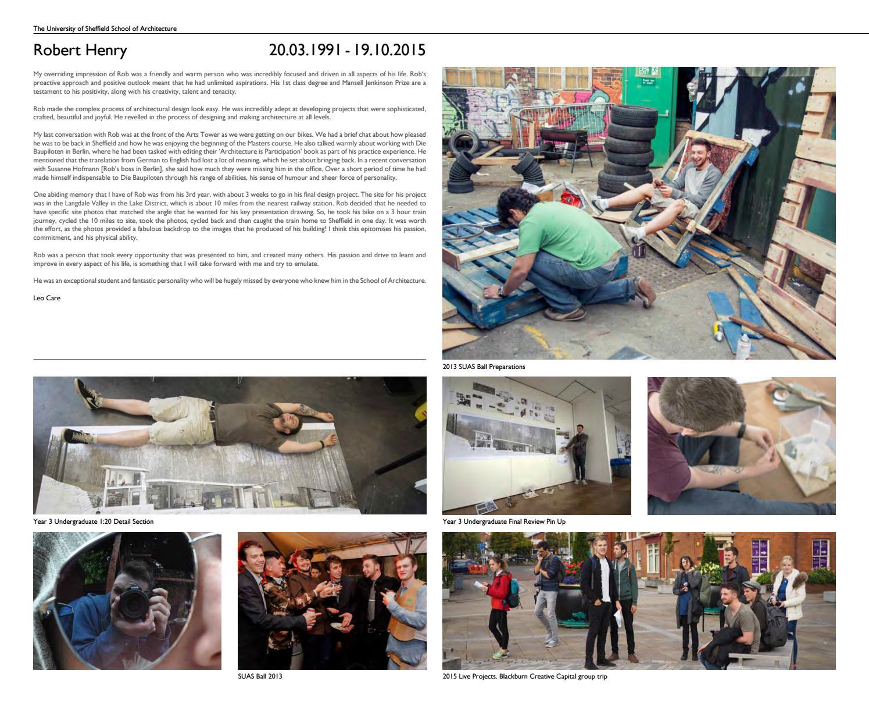 Sheffield School of Architecture Catalogue 2016 by SSoA - issuu
