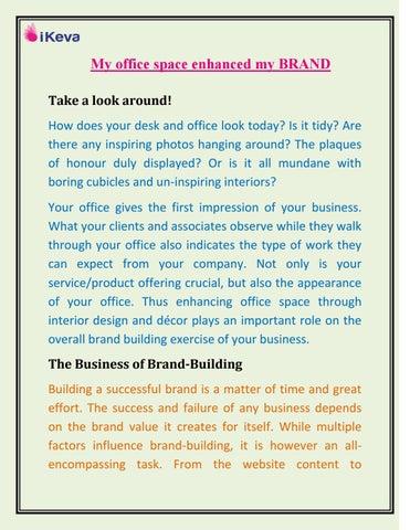 my office space enhanced my brand by ikeva issuu