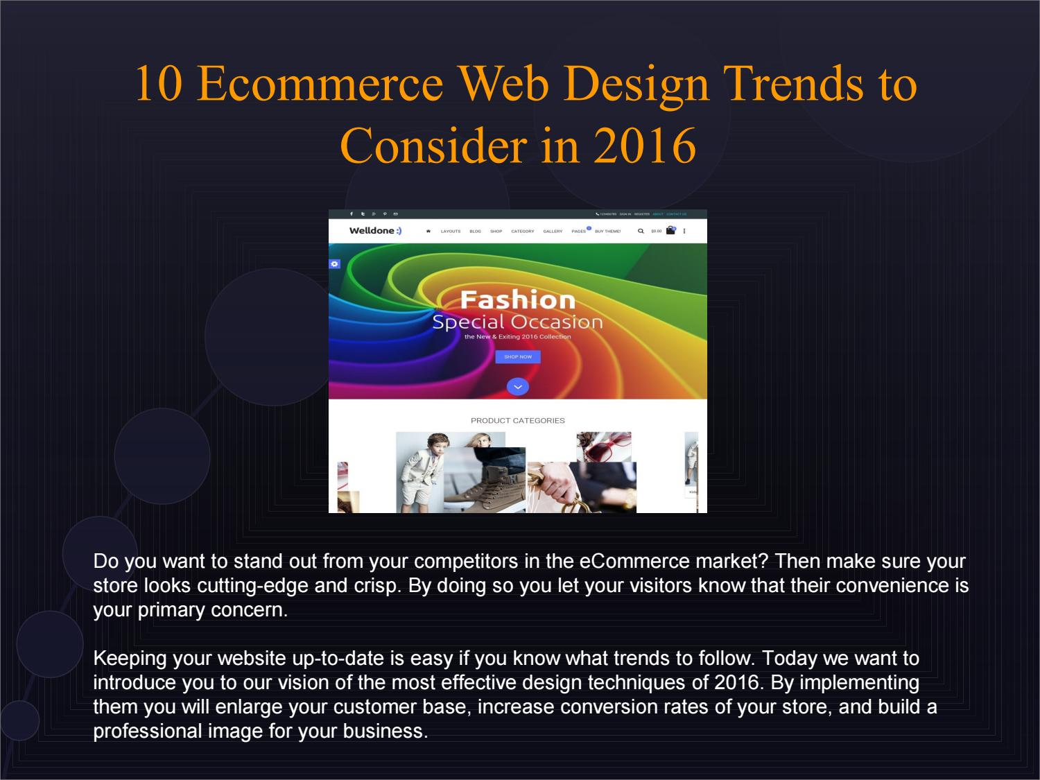 10 Ecommerce Web Design Trends Of 2016 By Tonytemplates Issuu