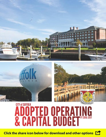 e7fbcb440417 Adopted Operating   Capital Budget FY 2016 17 by City of Suffolk ...