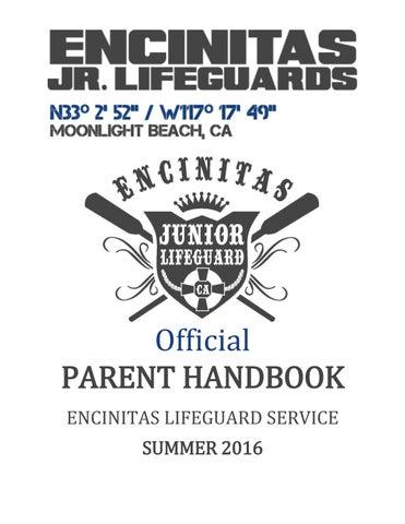 9e479738436e Parent Handbook 2016 by Encinitas Junior Lifeguards - issuu