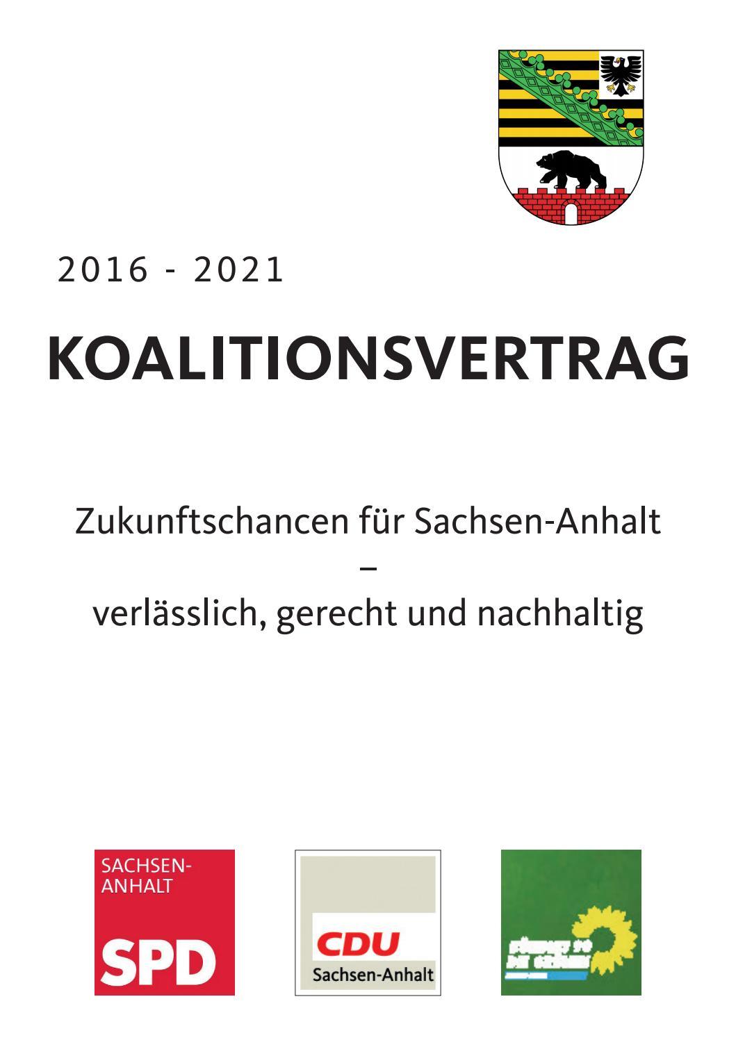Koalitionsvertrag Sachsen Anhalt 2021
