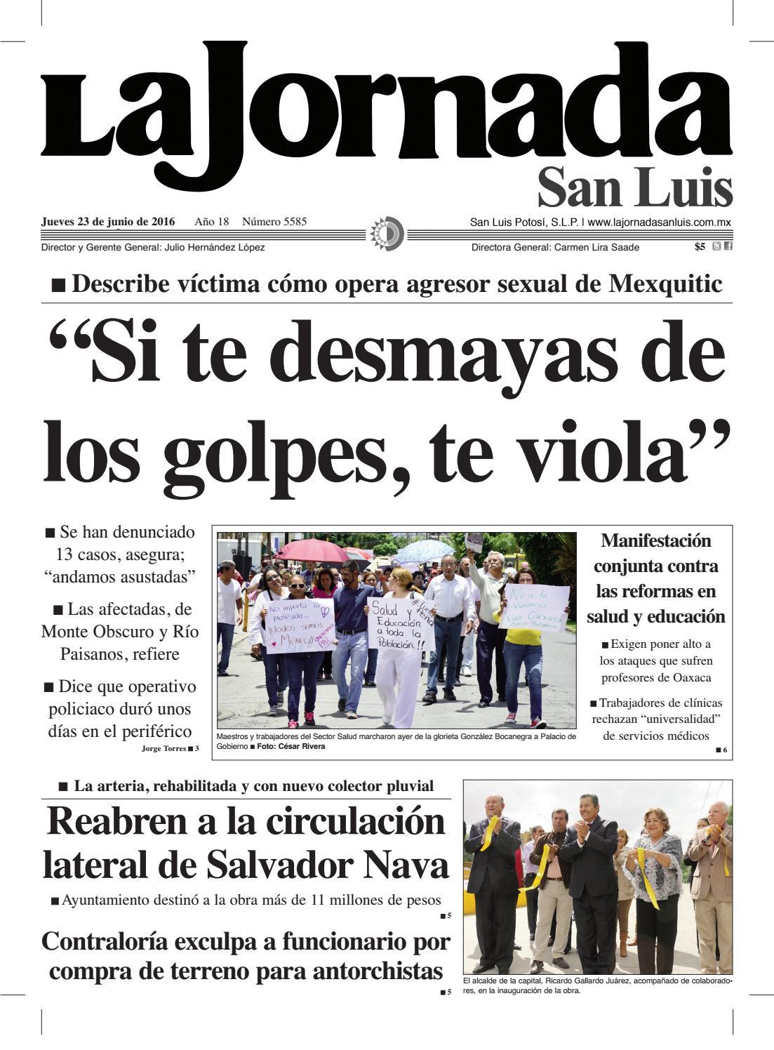 """Si te desmayas de los golpes, te viola"""" by La Jornada San Luis - issuu"""
