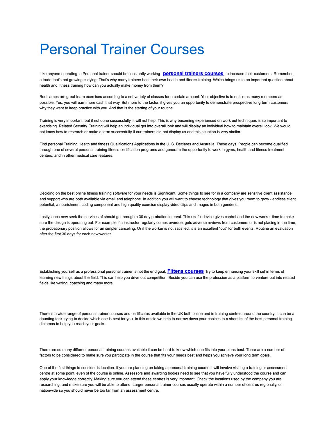 Personal Trainer Courses By Buy Instgaram Followers Uk Issuu