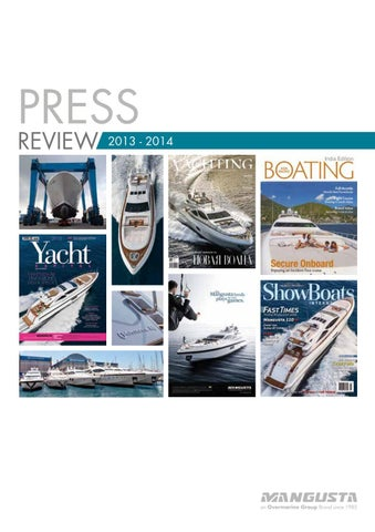 Overmarine Group Press Review 2014 By Mangusta Yachts Issuu