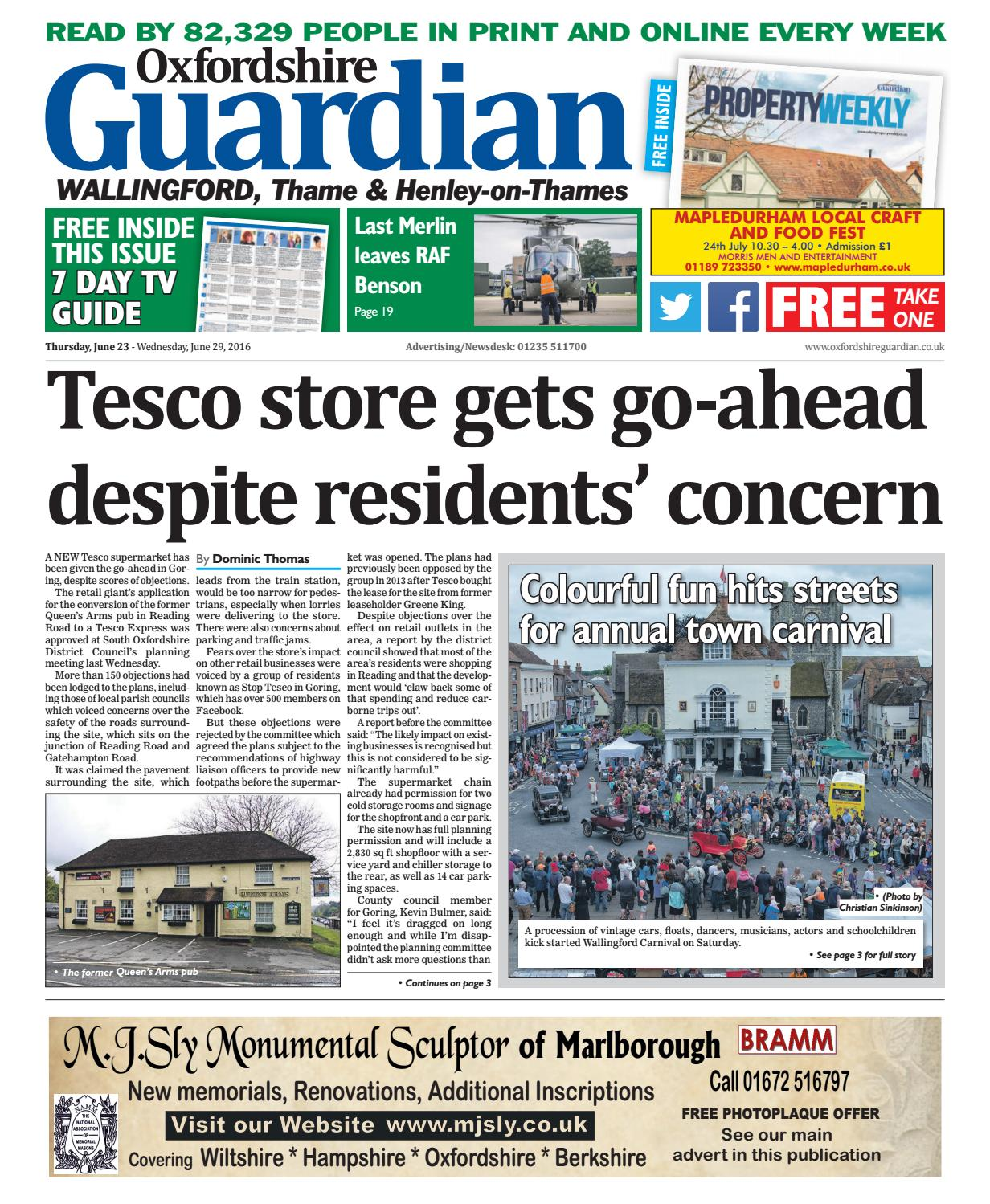 23 june 2016 oxfordshire guardian wallingford by Taylor Newspapers - issuu