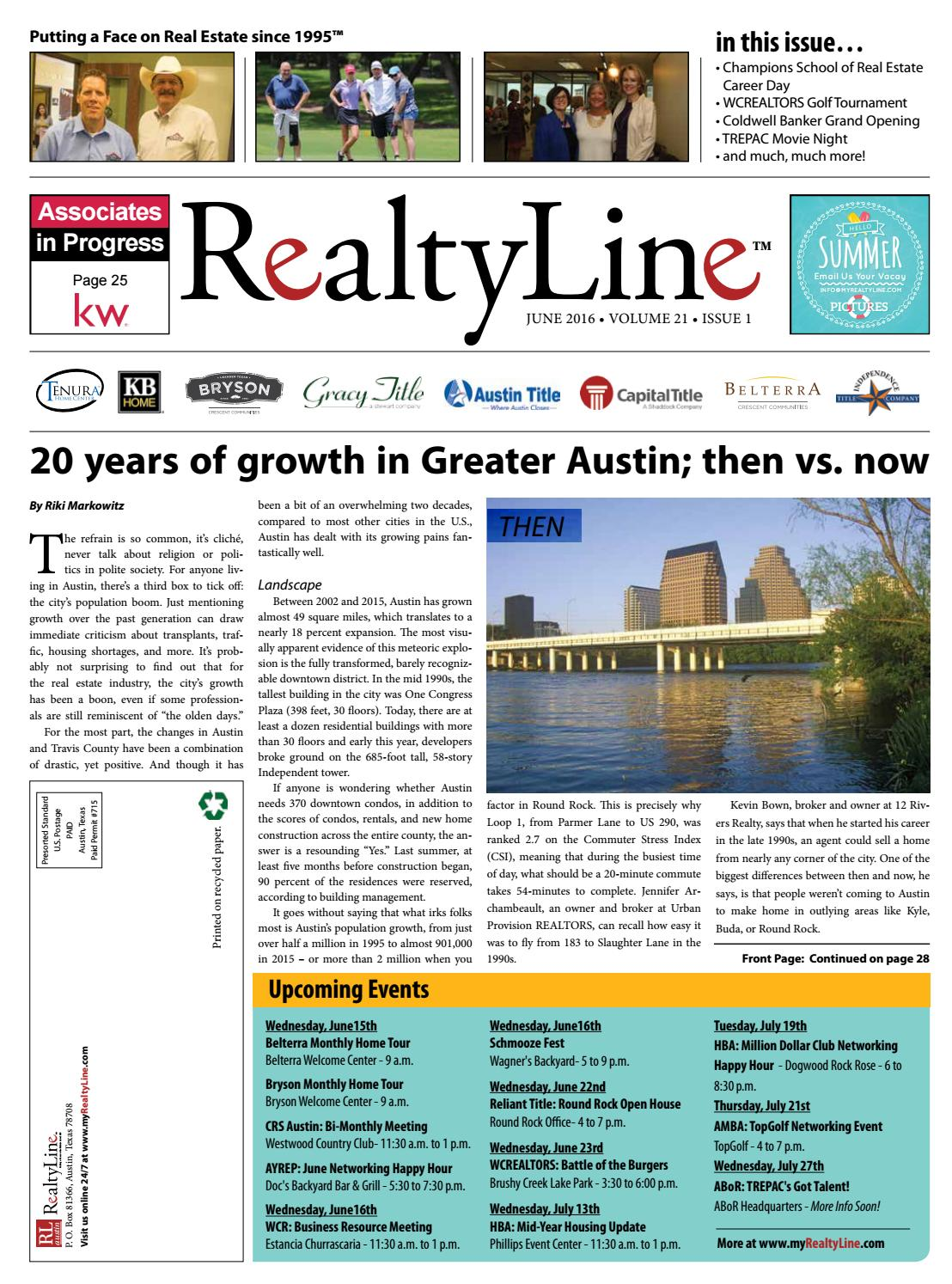realty line june 2016 issue by realty line of austin issuu