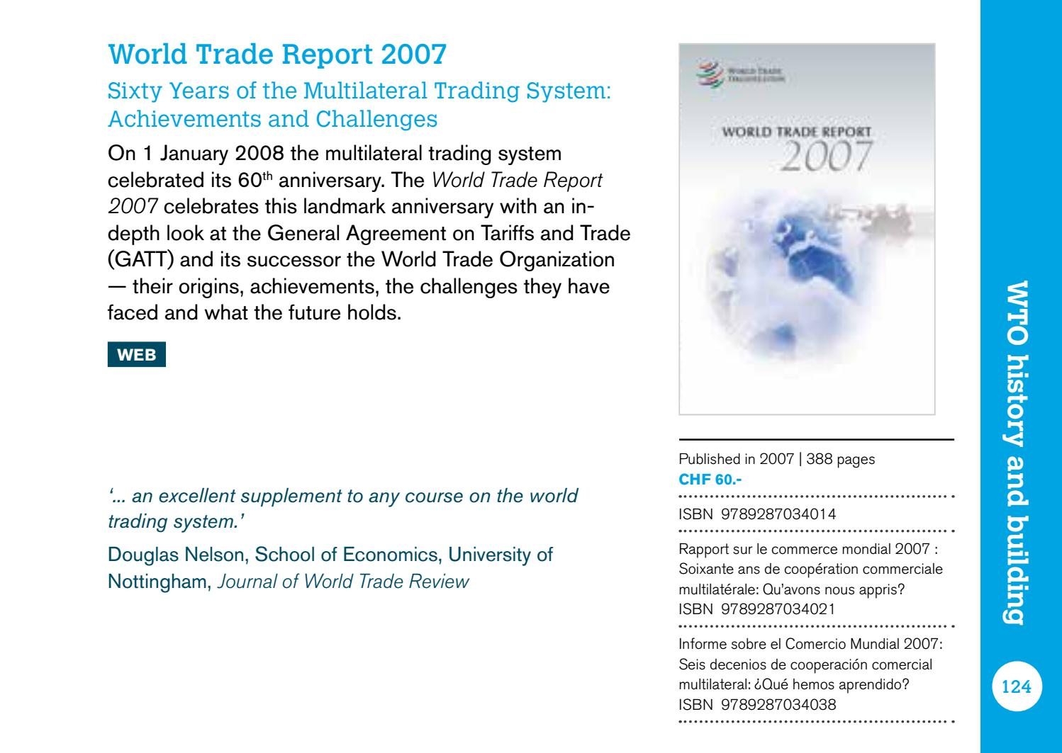 Wto Publications Catalogue 20162017 By World Trade Organization Issuu