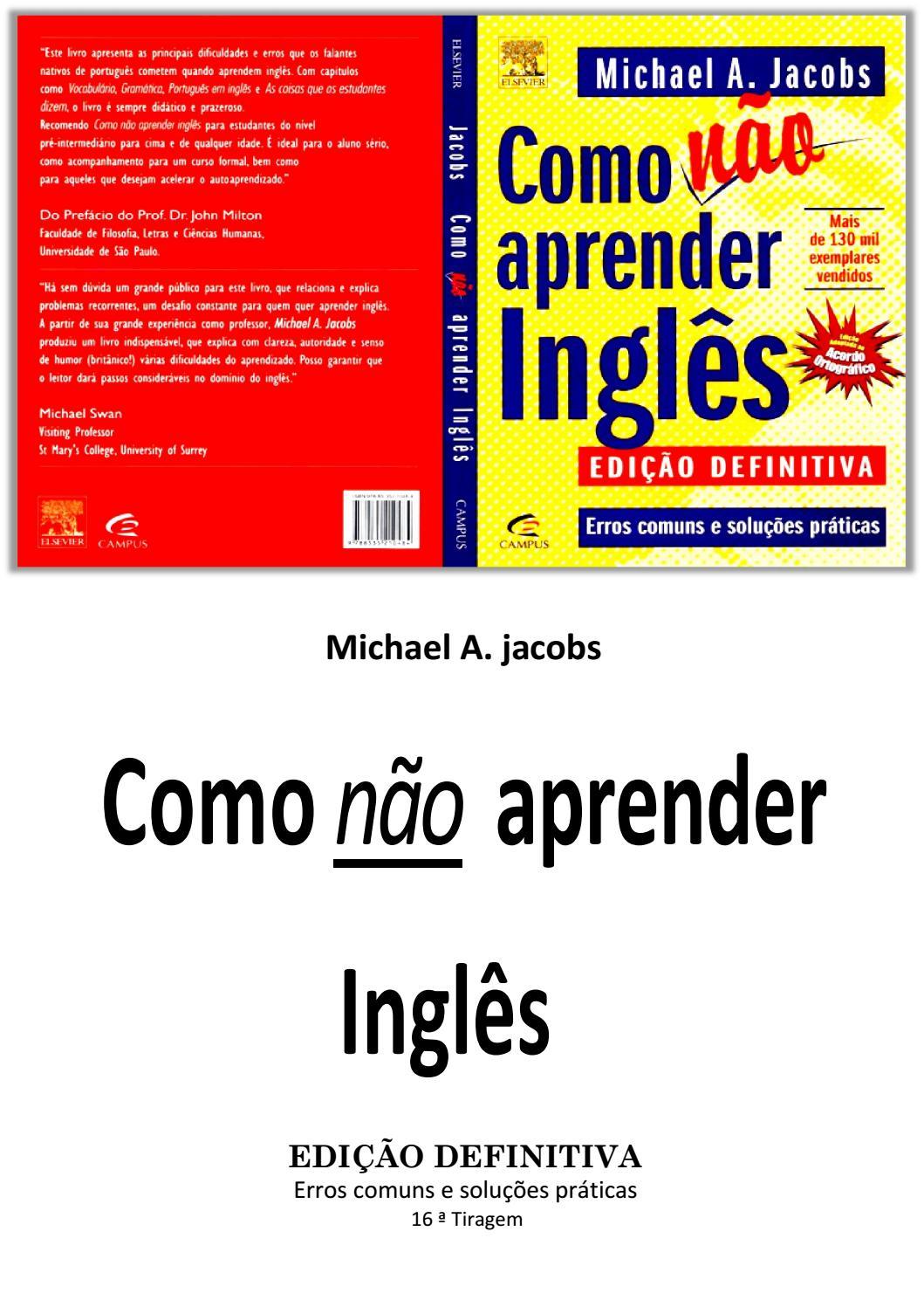 e492e4e62d857 Como não aprender inglês michael a jacobs by Anderson Godoy - issuu