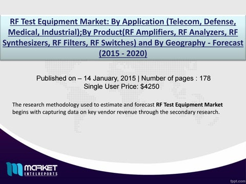 Research Analysis on RF Test Equipment Market Report by