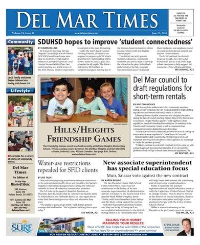 Del Mar Times 06 23 16 By Mainstreet Media Issuu