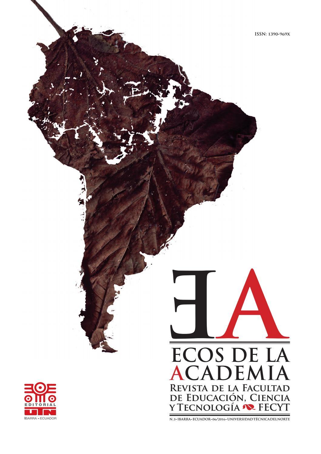 Revista Ecos De La Academia No 3 By Editorial Universidad