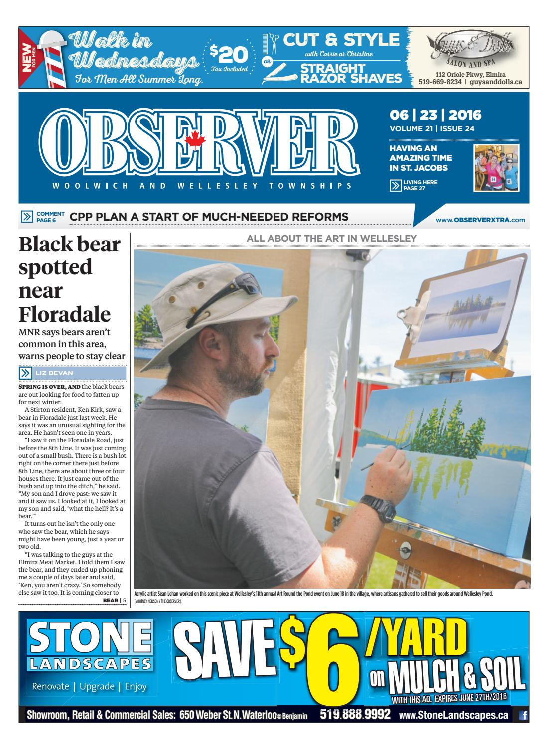 June 23, 2016 by Woolwich Observer - issuu