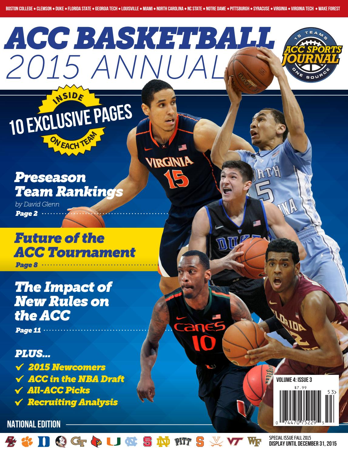 e8d5df54 ACC Basketball - 2015 Annual by Greg de Deugd - issuu