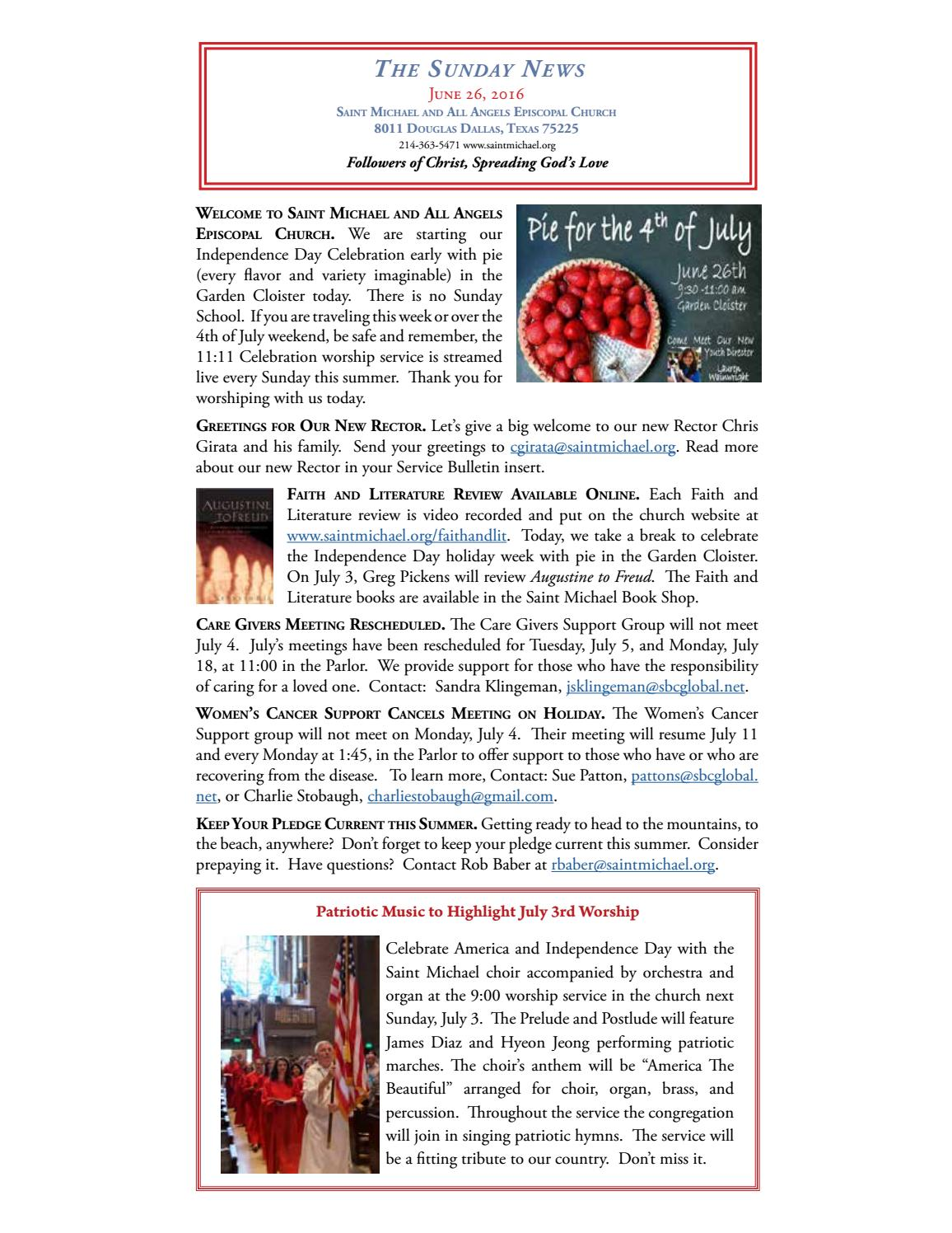 Sunday News June 26 By Saint Michael And All Angels Issuu