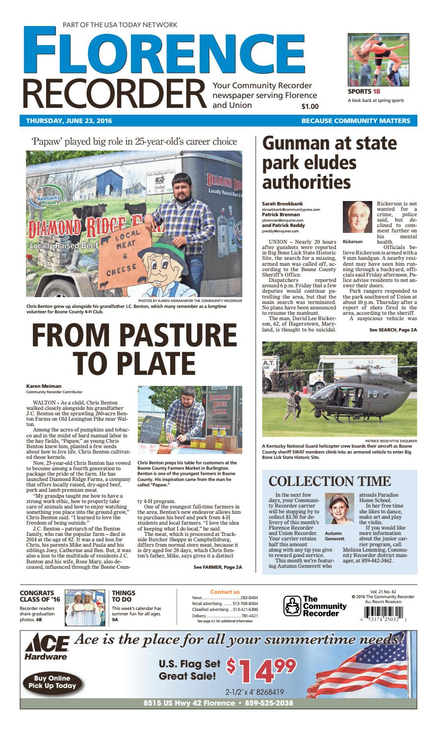 Florence recorder 062316 by Enquirer Media - issuu