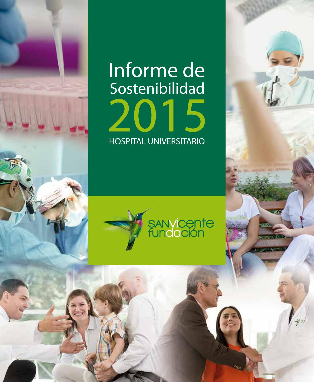 Informe de Sostenibilidad 2015 del Hospital Universitario de San ...