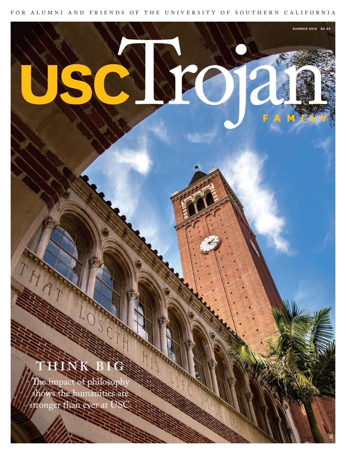 outlet store 80acf ba053 Trojan Family Magazine Summer 2016 by University of Southern California -  issuu