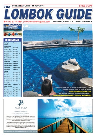 The Lombok Guide Issue 222 by The Lombok Guide - issuu