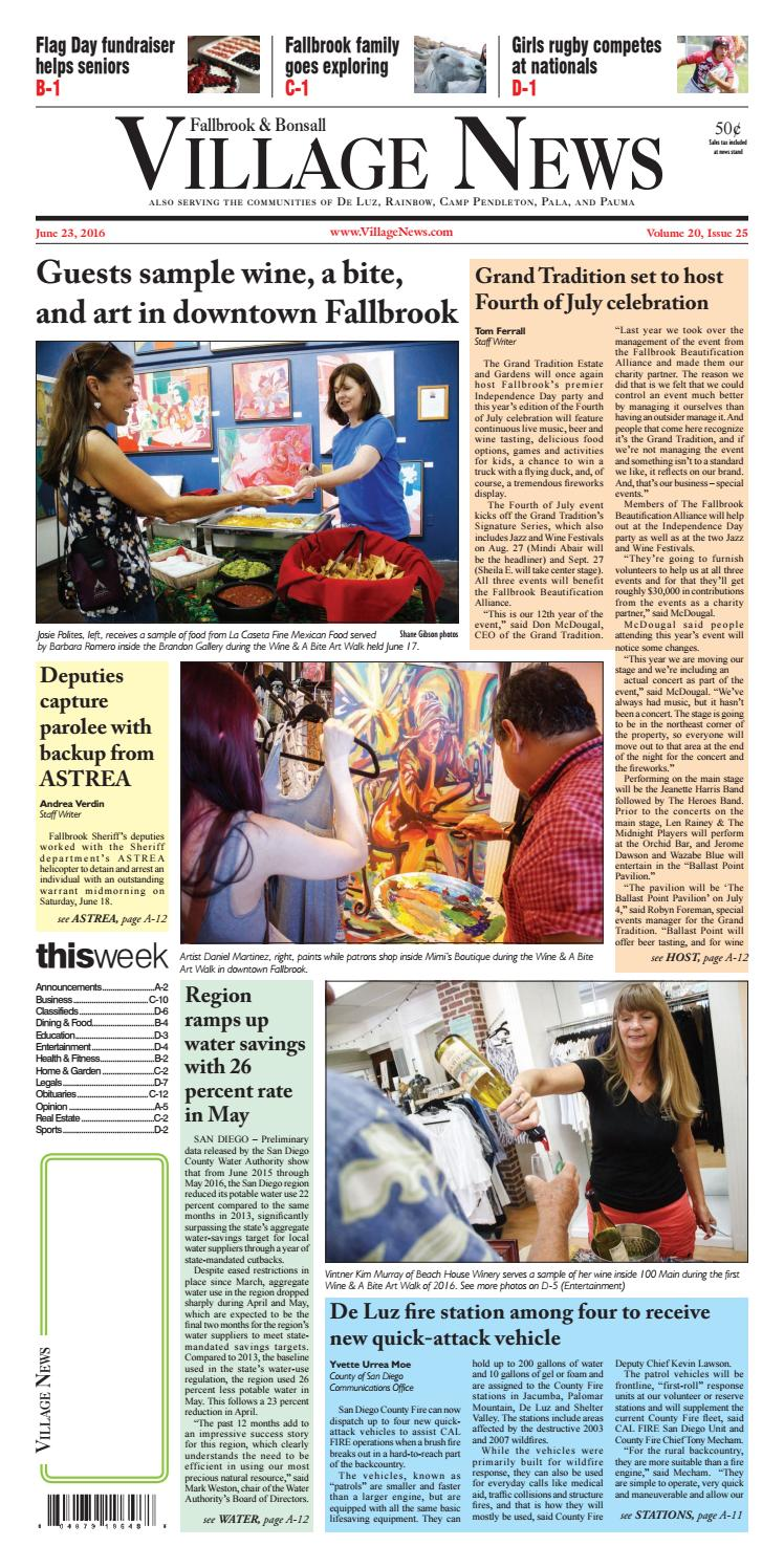 9aaf71a8a3b Fallbrook Village News by Village News