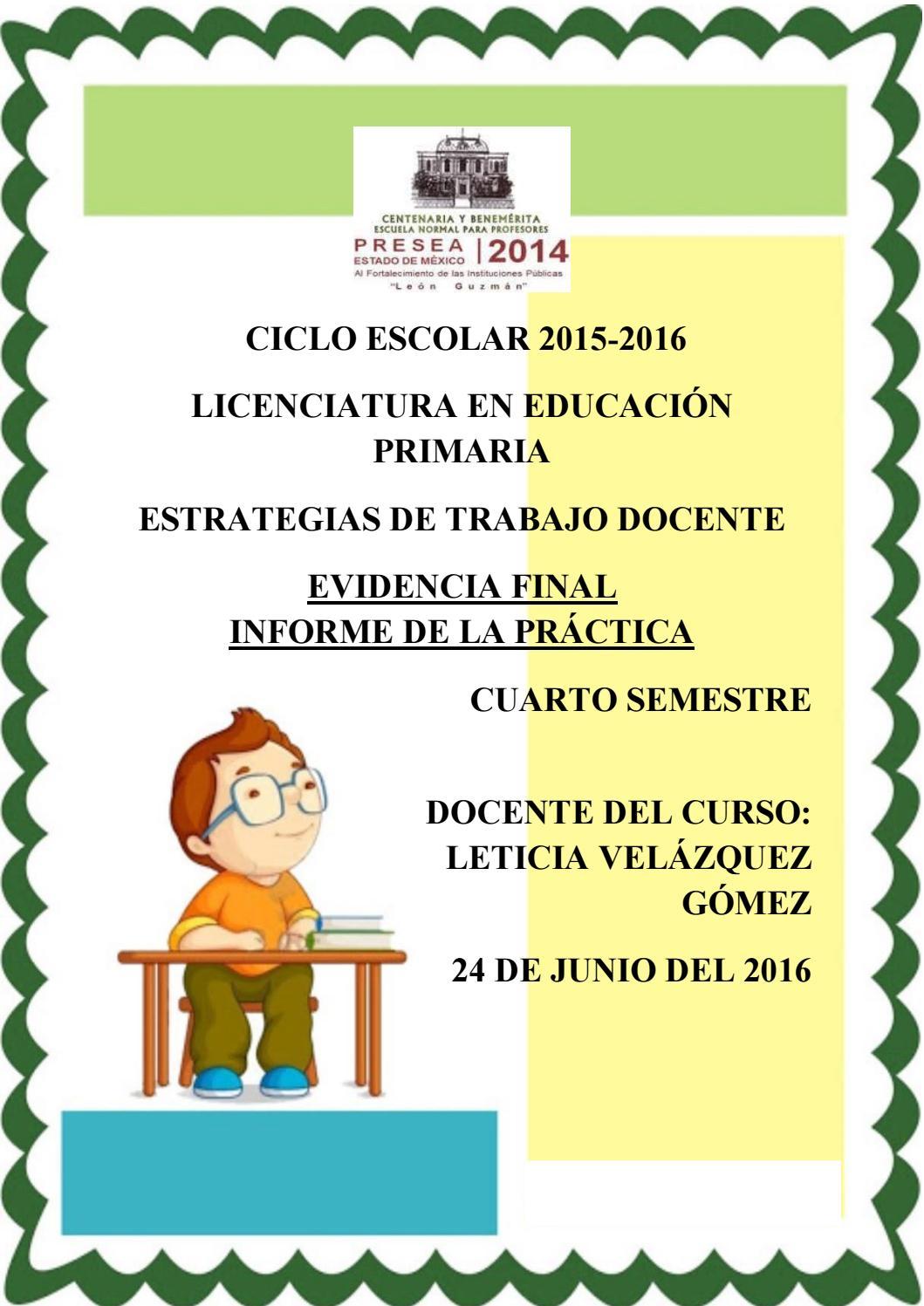 Evidencia final: Informe de práctica by Diana Gpe. Hernandez - issuu
