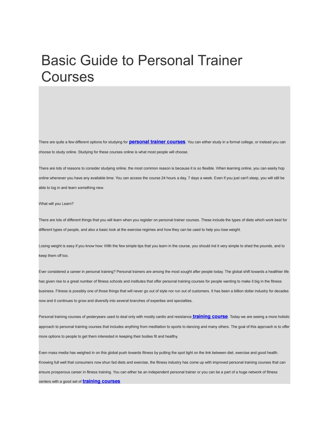 Basic Guide To Personal Trainer Courses By Buy Instgaram Followers