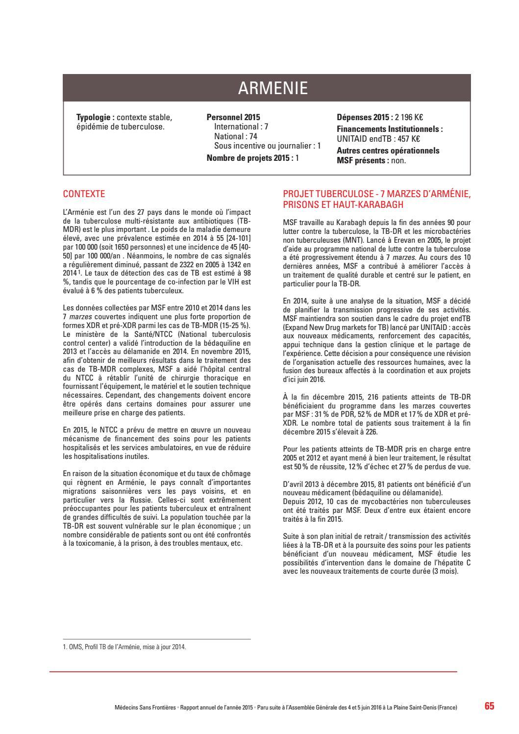 Rapport Annuel De Msf 2015 2016 By Medecins Sans Frontieres France