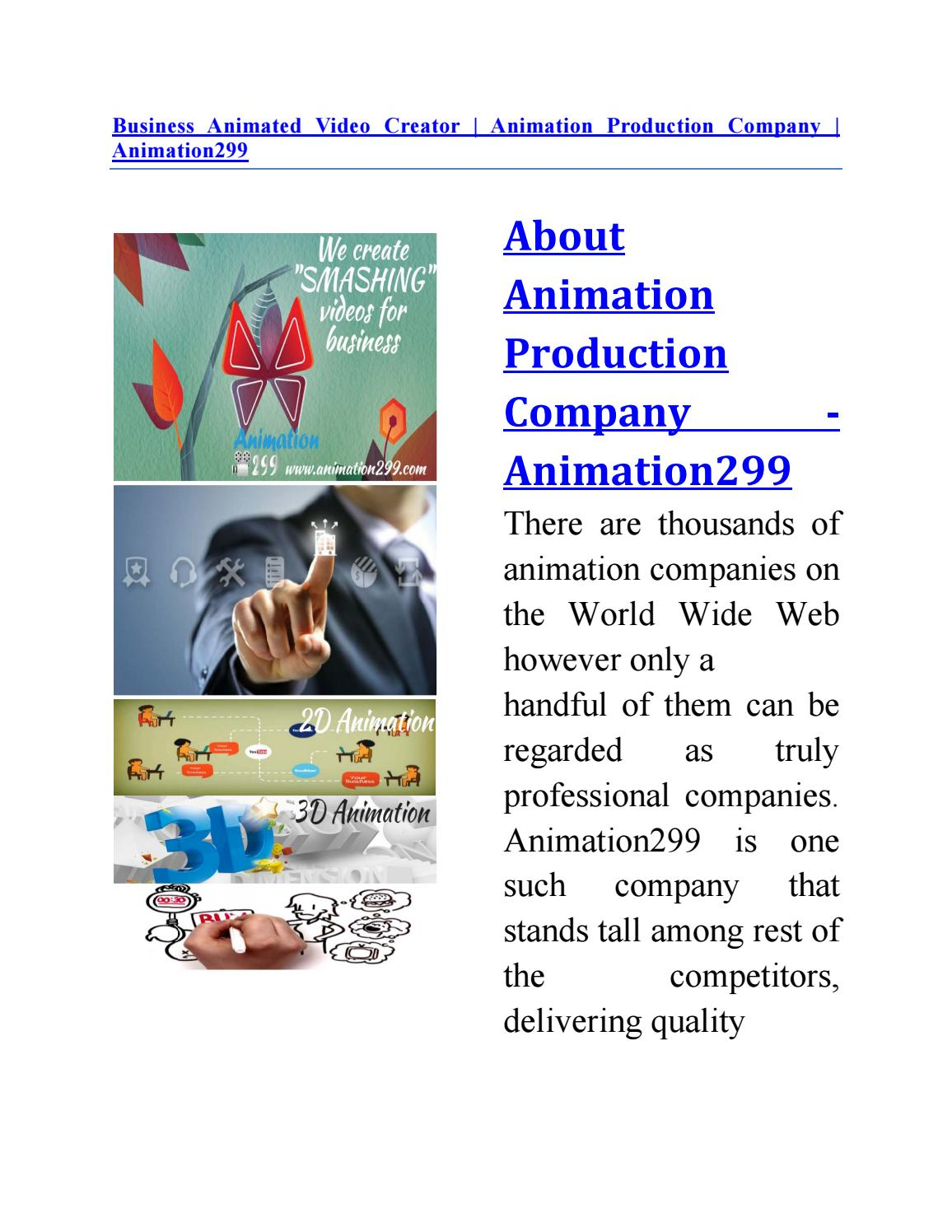 Business animated video creator animation production company