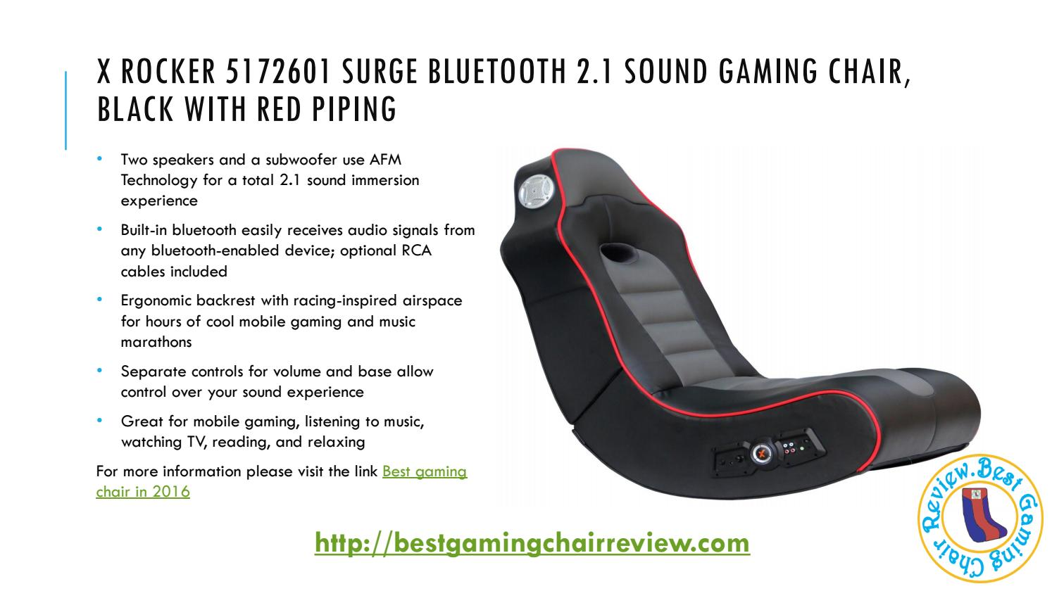Peachy X Rocker 5172601 Surge Bluetooth 2 1 Sound Gaming Chair By Dailytribune Chair Design For Home Dailytribuneorg