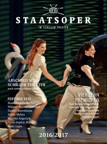 Staatsoper Berlin Saison 2016 2017 By Staatsoper Unter Den Linden