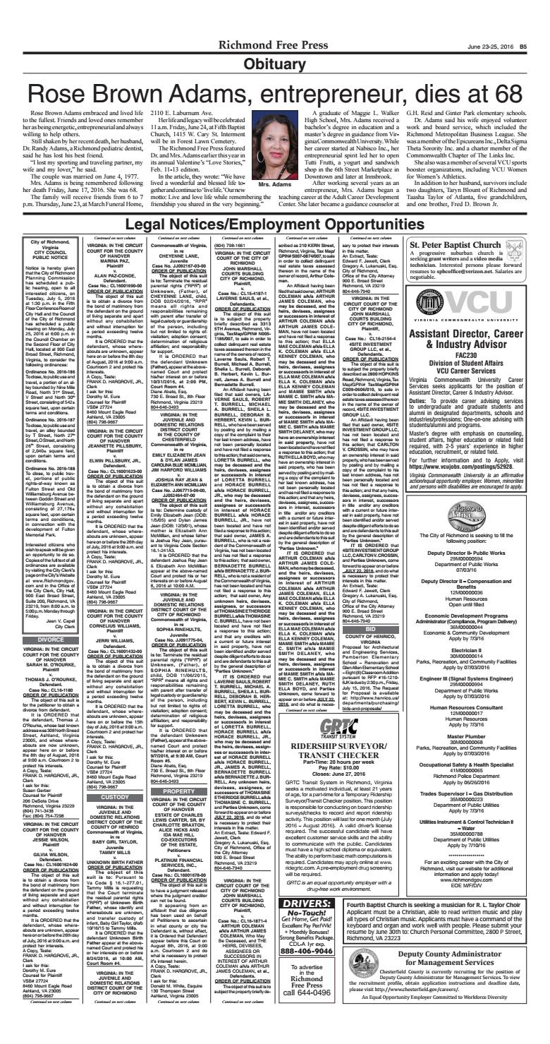 June 23 25, 2016 issue by Richmond Free Press - issuu