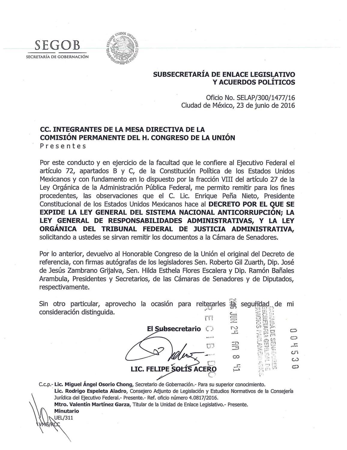 Observaciones ejecutivo federal by Información Integral 24/7 SAPI de ...