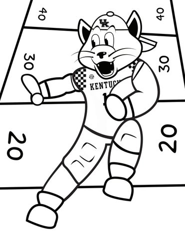 Kentucky Wildcats Basketball Coloring Pages Sketch ...
