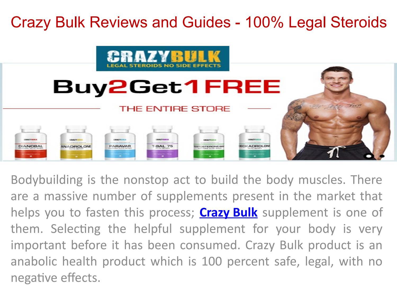 Buy Crazy Bulk 100% Legal & Natural Body Building Supplement