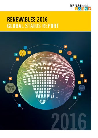 Renewables 2016 Global Status Report Ren21 By Rodrigo