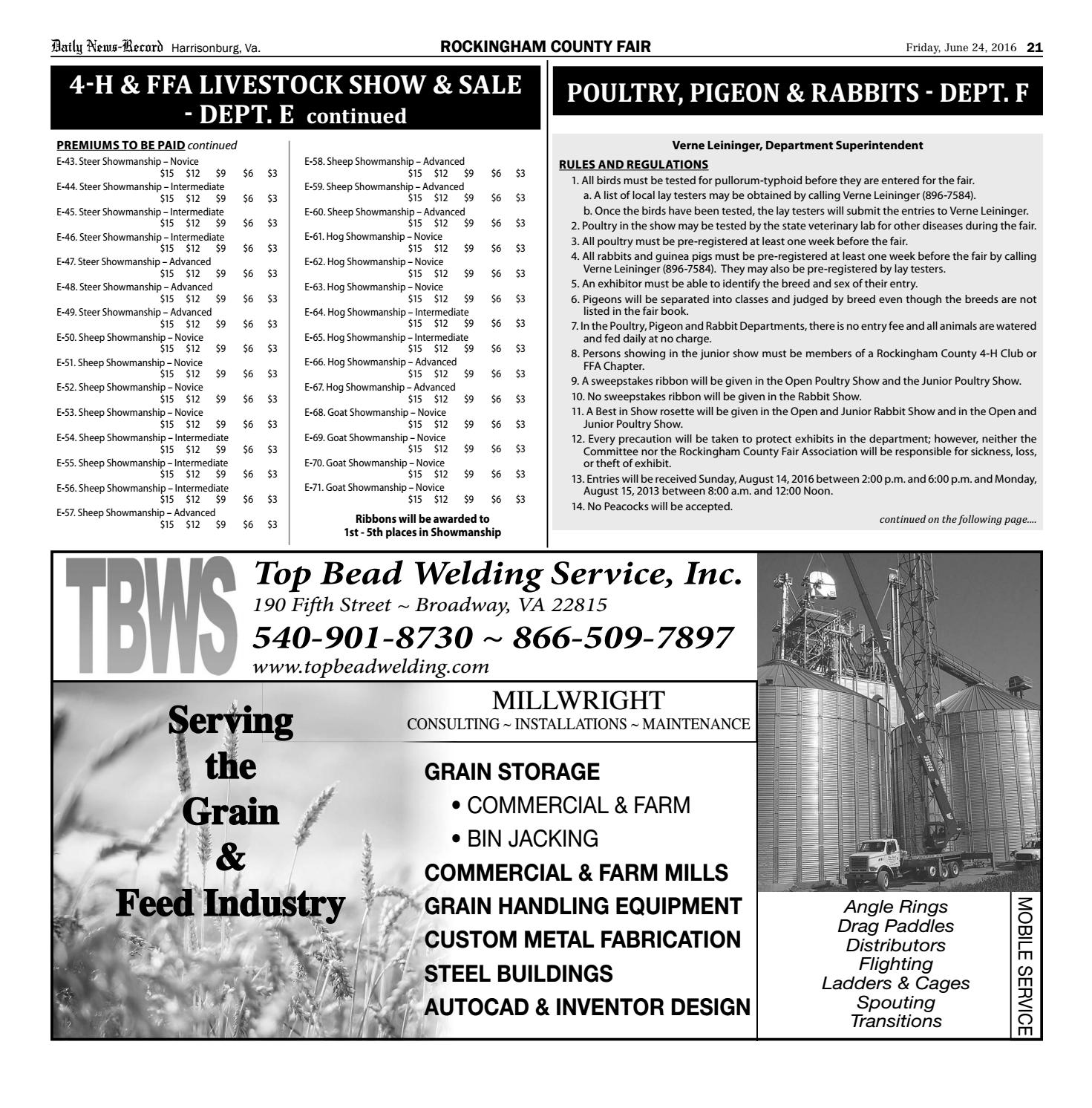 Rockingham County Fair Catalogue 2016 by Daily News-Record - issuu