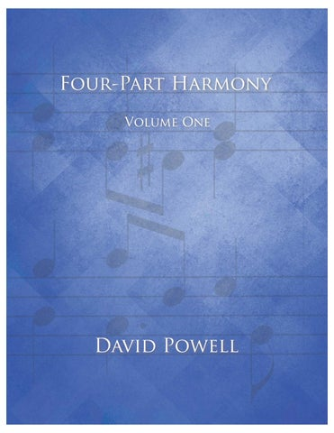 Four-Part Harmony Volume One - sample by David Powell - issuu