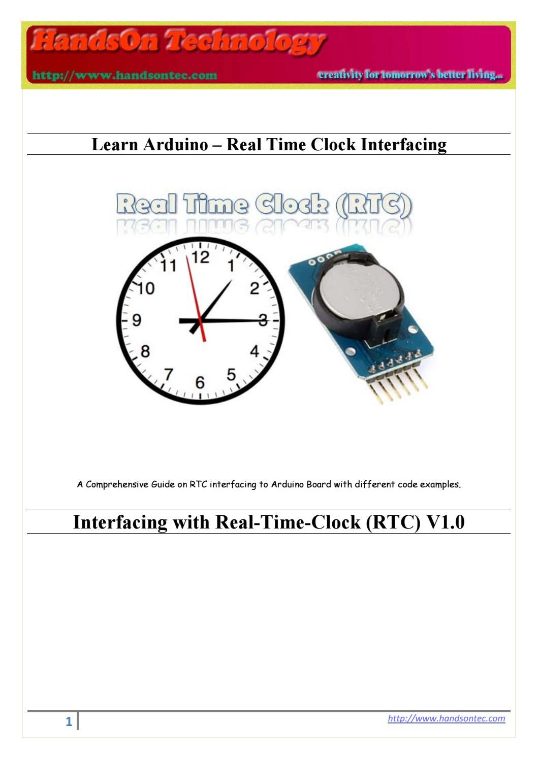 Real Time Clock Interfacing For Arduino By Lee Yuan Issuu Shield Schematic