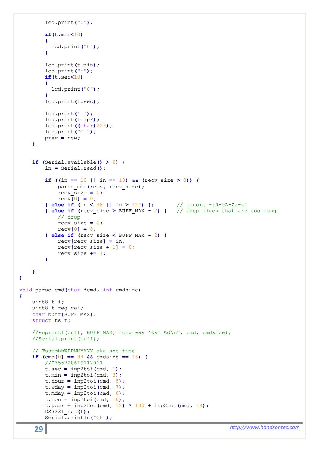 Real Time Clock Interfacing for Arduino by Lee Yuan - issuu