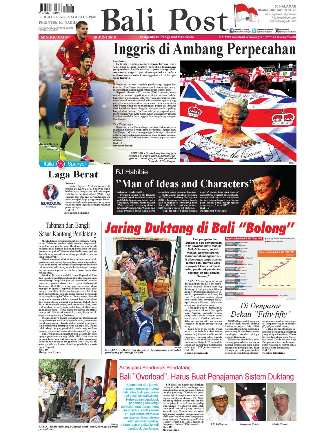 Edisi 26 Juni 2016 Balipostcom By E Paper KMB Issuu