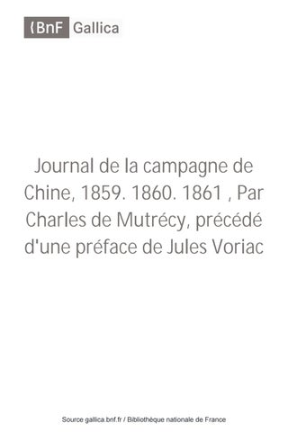05b0eea7d6f1 Journal de la campagne de Chine, 1859. 1860. 1861 - T 2 by Président ...