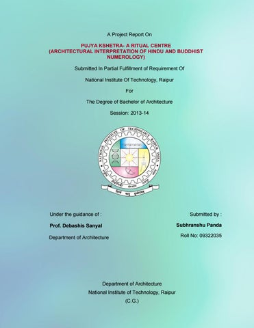 Pujya Kshetra :Architectural Thesis Report 2014 by