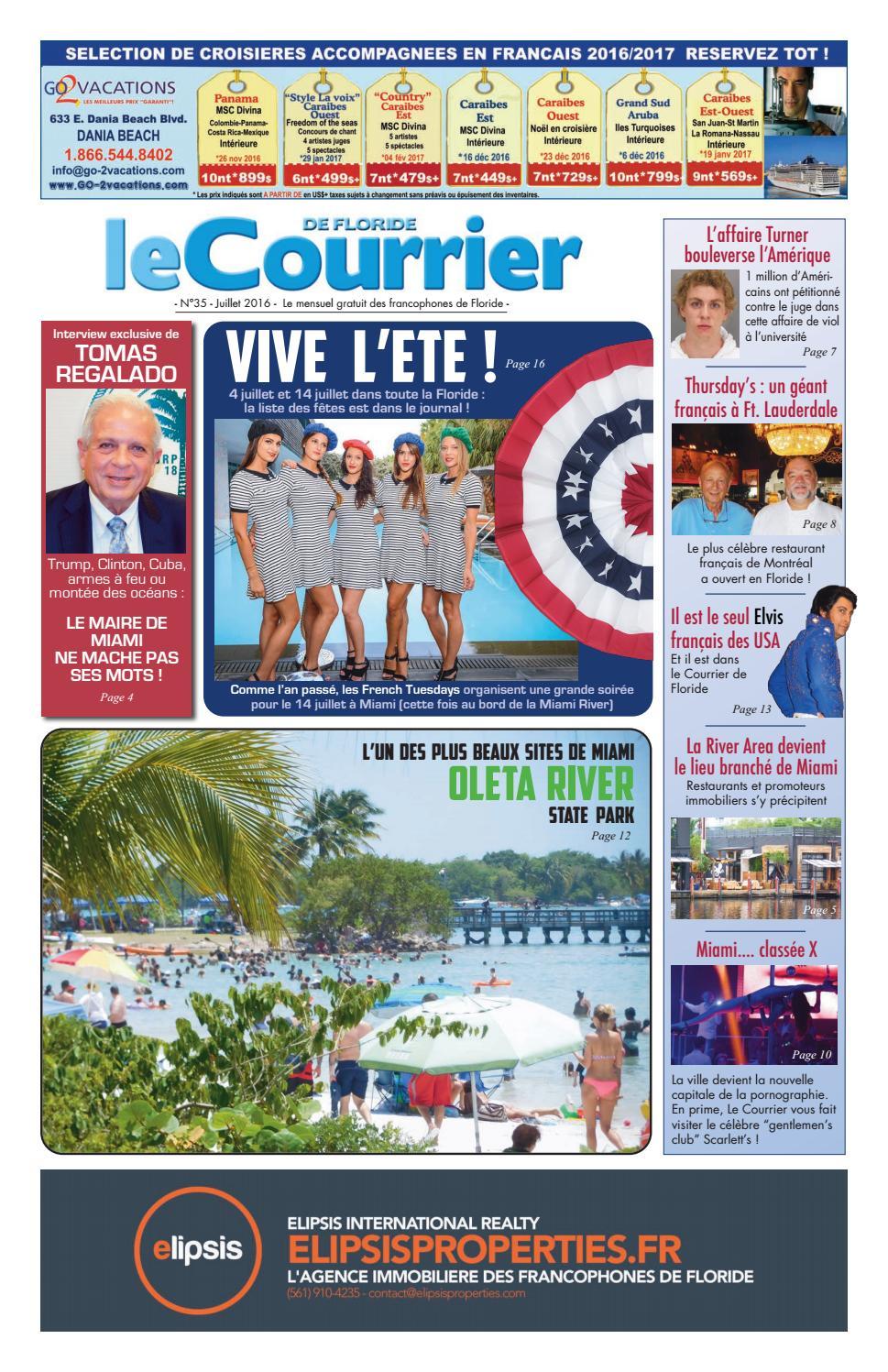Le Courrier de Floride   Juillet 2016 by CourrierUSA - issuu 8ca974847c5