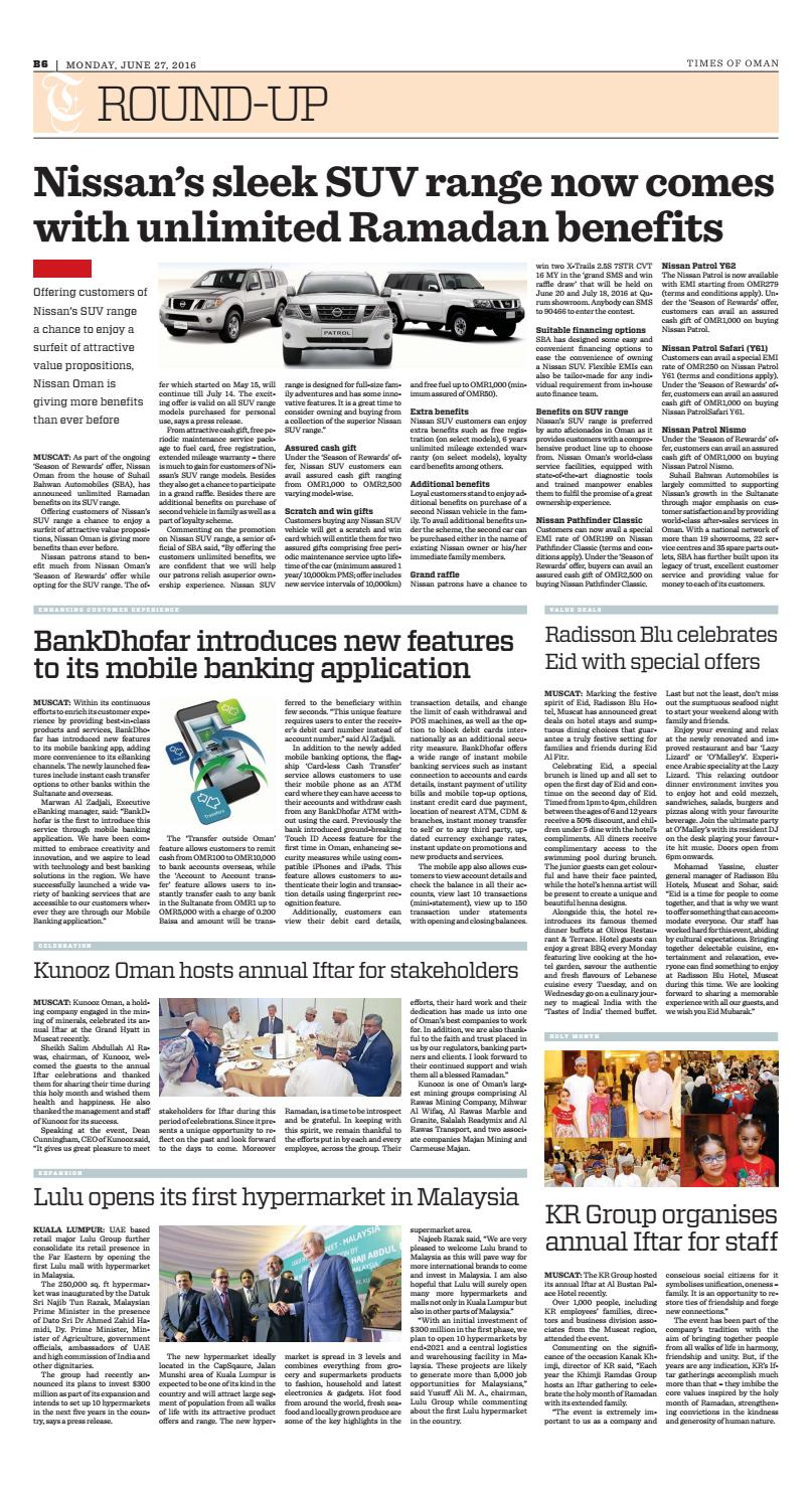 Times of Oman - June 27, 2016
