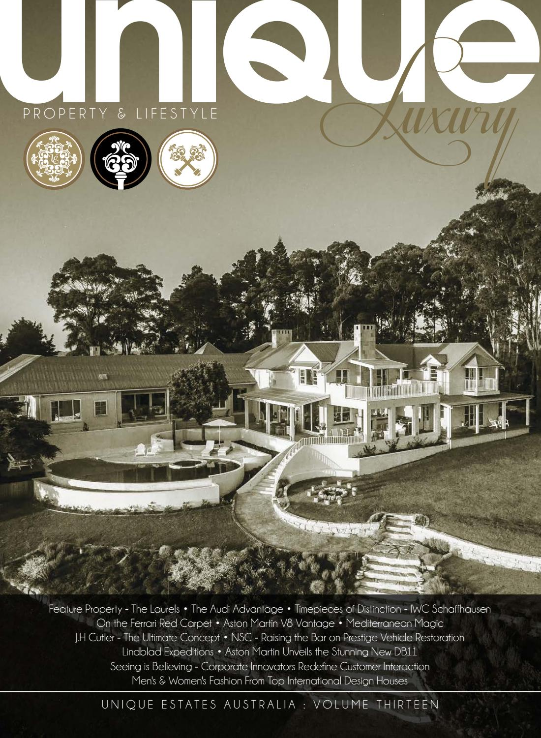 9096c8878542 Unique Luxury Magazine - Volume 13 by Unique Estates Australia - issuu